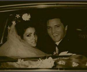 60s, bride, and Elvis Presley image