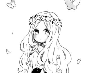 anime girl, anime, and illustration image