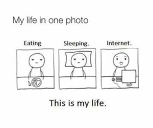 eating, internet, and my life image
