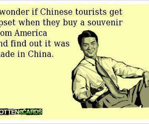funny, chinese, and america image