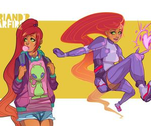 starfire and teen titans image