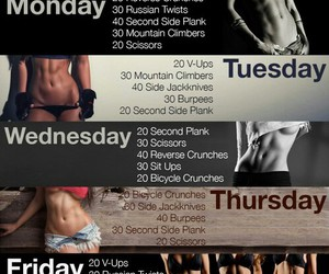 body, workout, and ab image