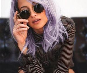 hair, nicole richie, and purple image