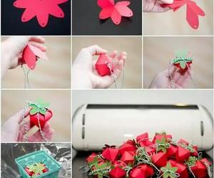 strawberry, diy, and creativity image