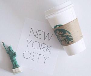 new york, starbucks, and city image