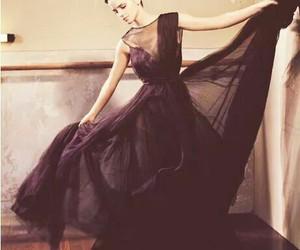emma watson, dress, and black image