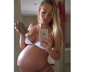 blonde, girl, and pregnant image