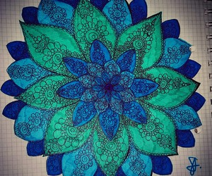 art, blue, and drawings image