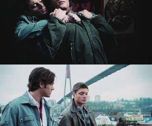 dean, jared padalecki, and Jensen Ackles image