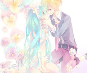 anime, couple, and hatsune miku image