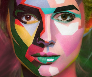 art, woman, and colors image