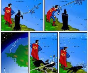 superman, batman, and funny image