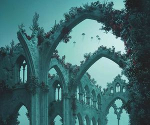underwater, cathedral, and ocean image