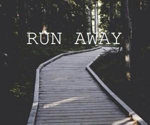 run, away, and wallpaper image