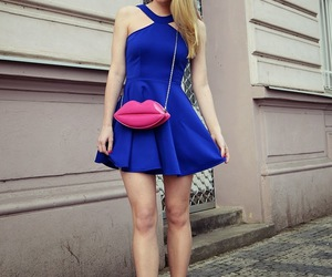 blond hair, dress, and high heels image