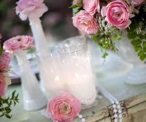 candles, flowers, and decorations image