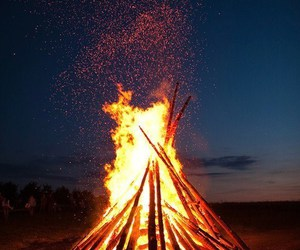 fire, night, and photography image
