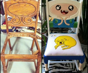 chair, adventure time, and finn image