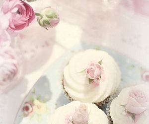 cupcakes, pastel, and pink image