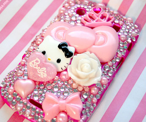 hello kitty, bow, and pink image