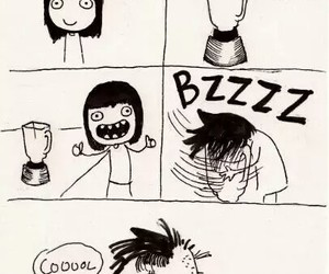 hipster, funny, and haircut image