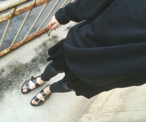 birkenstock, black, and hipster image