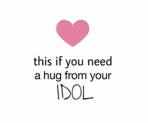hug, idol, and need image