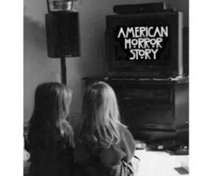 black and white, american horror story, and tumblr image