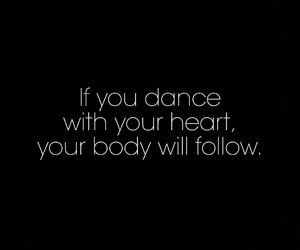dance, dancer, and heart image