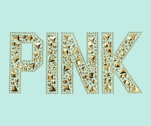 pink, gold, and Victoria's Secret image