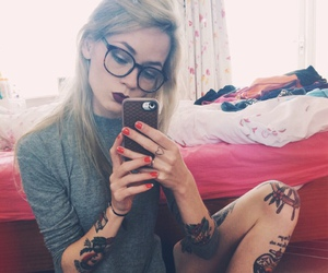 tattoo, girl, and indie image