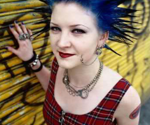 girl, Liberty spikes, and punk image