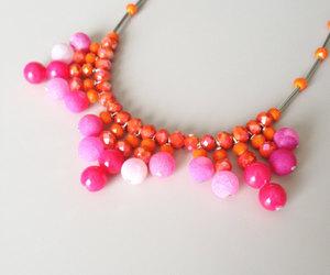 summer trends, orange necklace, and fringe necklace image