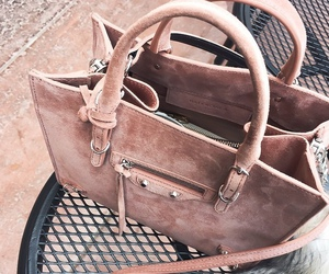 bag, pink, and rose gold image