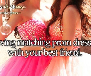 dress, best friends, and Prom image