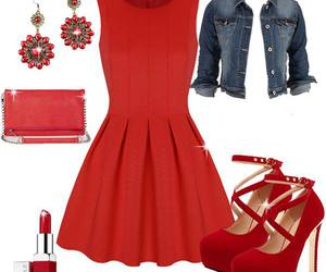 dress, fashion, and heels image