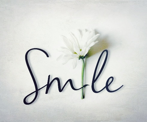 smile, flowers, and quotes image