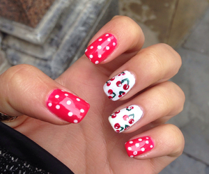 cherries, design, and manicure image