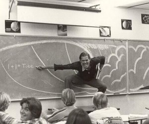 70s, black and white, and school image