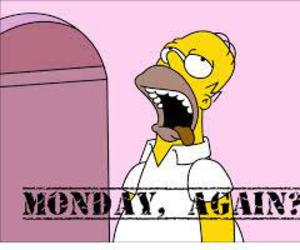 monday, again, and homer image