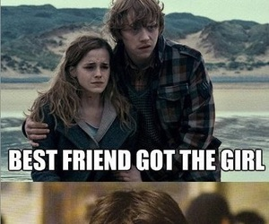 harry potter, funny, and ron image