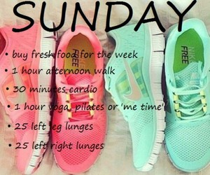 fitness, workout, and Sunday image