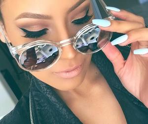 nails, sunglasses, and makeup image