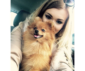 blonde, dog, and girl image
