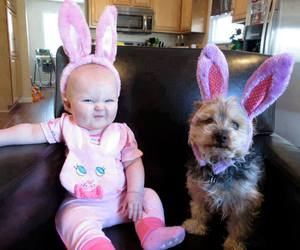 baby, dog, and aaww image