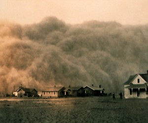 dust storm, dust, and storm image