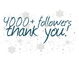 followers, thank you, and 4000 image