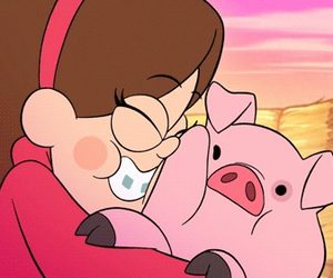 gravity falls, mabel, and waddles image