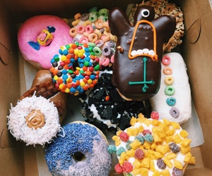 cool, donut, and donuts image