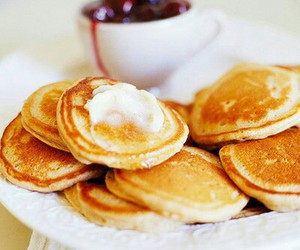 food, pancakes, and sweet image